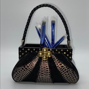 Makeup - New blingy purse make up brush holder cup